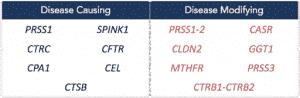 pancreatitis disease causing and disease modifying genes