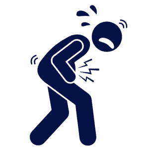 vector image of a person in pain holding their stomach